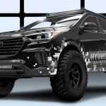 Hyundai совместно с Rockstar приготовили особенный Santa Fe для SEMA