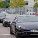 Porsche вывела на дорожные тесты прототип электрокара Mission E