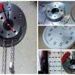 Оригинальные настенные часы из тормозного диска ВАЗ 2108