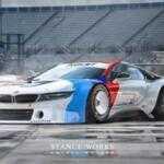 Рендер BMW i8 в стиле M1 Procar