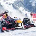 Red Bull пригрозили штрафом за езду болида по горнолыжной трассе