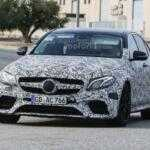 Новые шпионские фото 2017 Mercedes-AMG E63