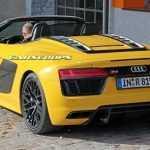 Папарацци удалось сфотографировать Audi R8 Spyder без камуфляжа