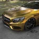 Золотое купе Mercedes-Benz S500 Coupe на тюнинг-колесах Zito