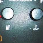 Сколько топлива в баке при горящей лампочке