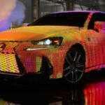 Lexus «завернул» модель IS в светодиоды