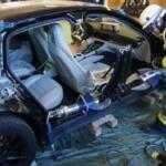 Немецкие спасатели на учениях разрезали новый Porsche Panamera