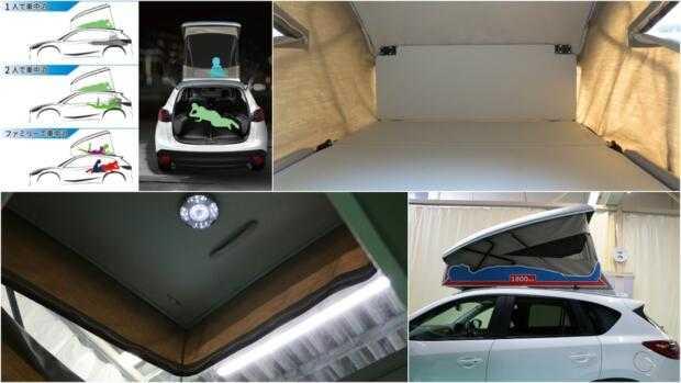 Mazda CX-5 с палаткой на крыше