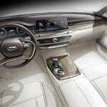 Интерьер нового седана Kia K900 показали на скетче