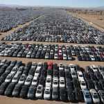 В США сфотографировали с воздуха огромную парковку с тысячами «дизельгейтных» Volkswagen