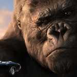 Сегодняшние машины сделаны из бумаги? Здоровенный шимпанзе спрыгнул на крышу автомобиля и оставил на ней большущую вмятину