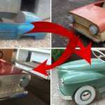 Вот как можно отреставрировать старую детскую машинку из СССР: результат вас поразит!