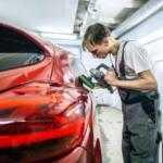 Предпокрасочный ремонт автомобиля, мелкие неровности